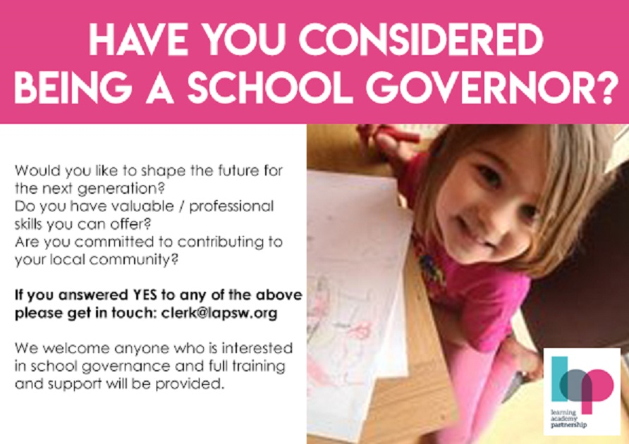 Have you considered becoming a school governor?
